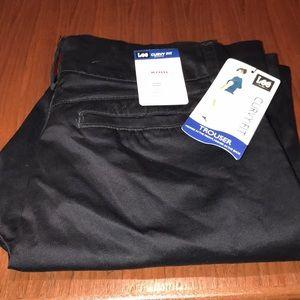 Lee Curvy Fit Modern Series Black Trouser Pants